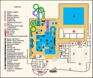 Aquapark - plan pomieszczeń